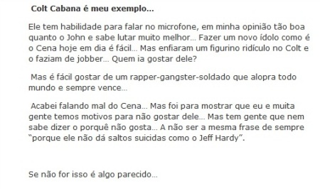 Falando mal do John Cena?