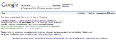 O unico sacripanquia do Google!
