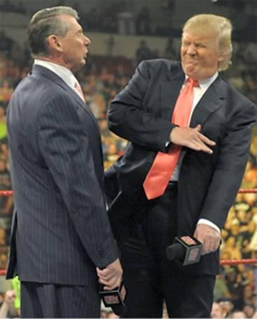 Donald sentiu o cheiro primeiro e disse que foi Vince quem soltou