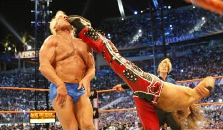 O main event da Wrestlemania 24 (na minha cabeça).
