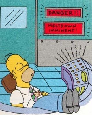 Homer Simpson fazendo o job!