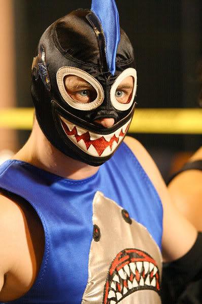 Shark Boy grande estrela da TNA sem a sua parceira Lava Girl