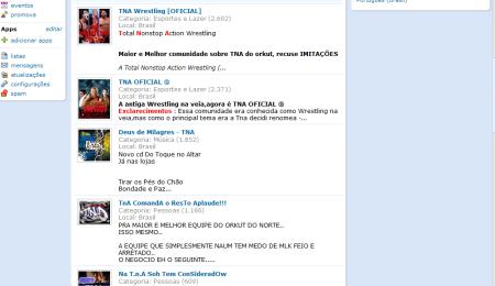 Comunidades da TNA bombam na orkut!